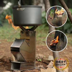 Stainless Steel Outdoor Survival Camping Hiking Portable wood Stove