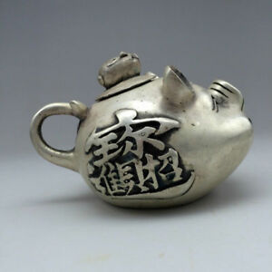 Chinese-Exquisite-Miao-Silver-Handwork-Carved-fish-Teapot