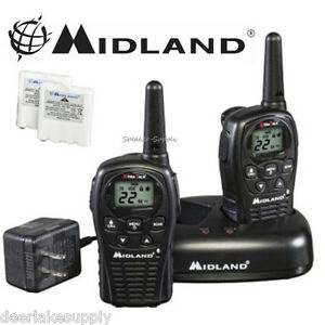 MIdland-LXT500VP3-Two-Way-Radio-Walkie-Talkie-Set-24-Mile-Range-2-Pack-Set-New