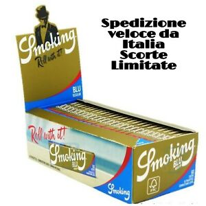 🔥 CARTINE SMOKING BLU REGULAR CORTE TRASPARENTI Tipo B 60x 25-50 PACCHETTI BOX