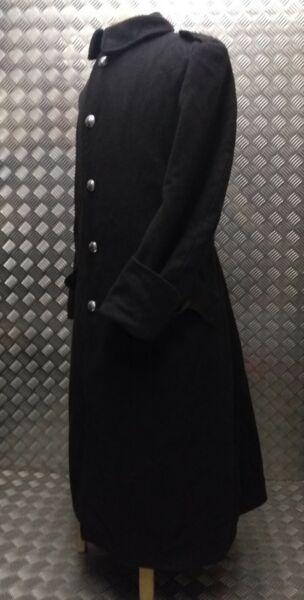 2019 Moda Genuine British Army Issue Melton Wool Greatcoat Long Coat Overdyed Black Goths