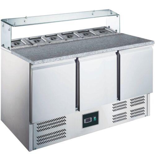 Pizzakühltisch Granit Platte Kühltisch Saladette Pizzatisch ZORRO ZPS 300 G