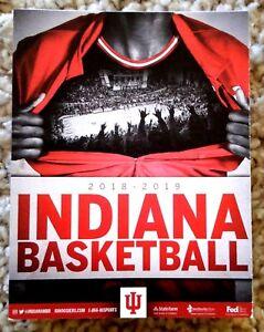 Details about INDIANA UNIVERSITY HOOSIERS 2018-19 MEN'S BASKETBALL POCKET  SCHEDULE - MINT!