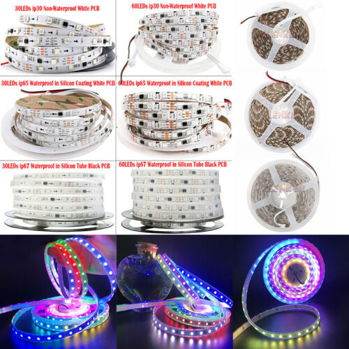 5M WS2811 LED Strip 5050 RGB Dream Color 150LED //300LED Lights DC 12V White PCB