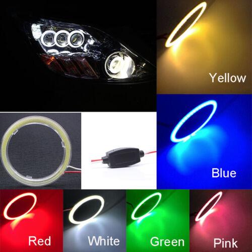 Bright 12V COB LED Driving Angel Eyes Headlight Light Halo Ring 70mm 120mm