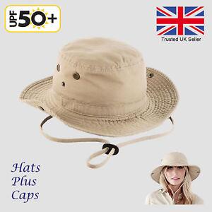 Details about Mans Mens Sun Shade Summer Wide Brim Bucket Cargo Floppy Hat  Khaki Blue UK c0d0d98bcee