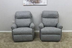 G-Plan-Newbury-Designer-Grey-Fabric-x2-Static-Armchairs