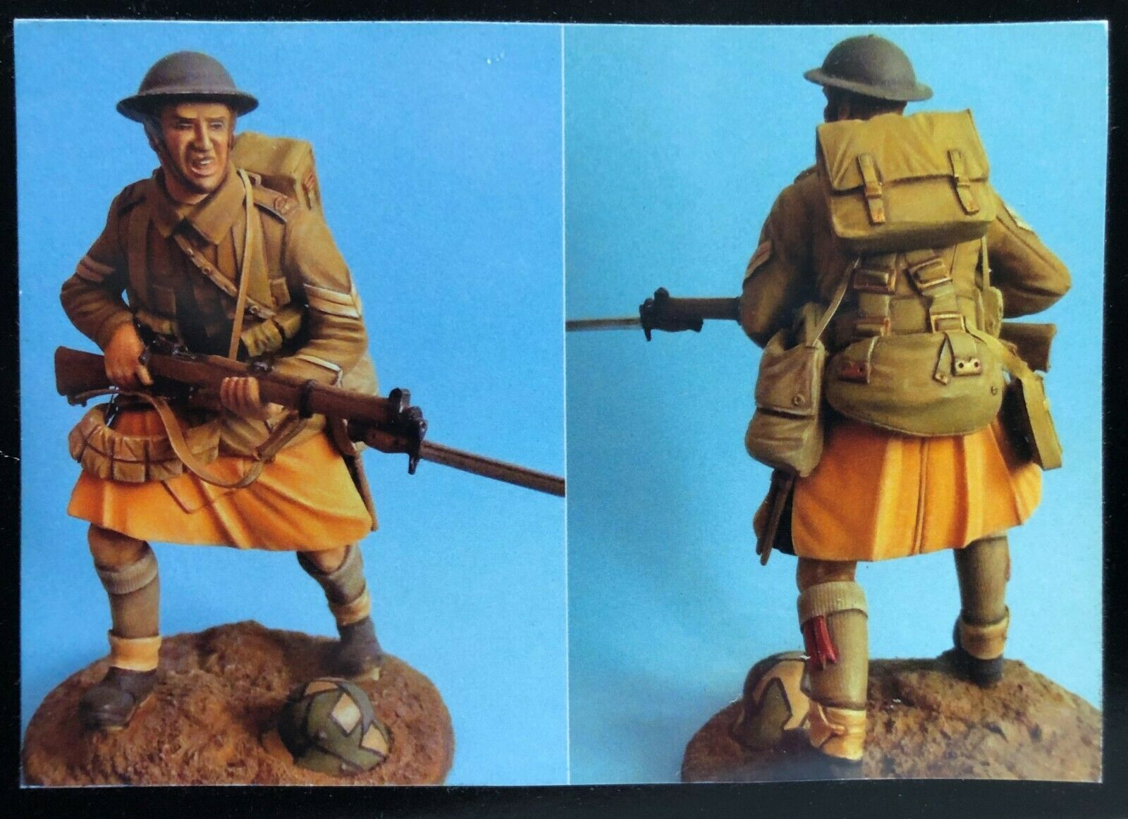 116 120MM RESIN cifra IMPERIAL GtuttiERY BRITISH INFANTRYuomo 1916 WWI. nuovo.