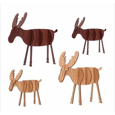Christmas Gift Present Xmas Decoration Ornament Wooden Reindeer Office School
