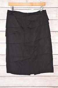 VERONIKA-MAINE-Skirt-Sz-10-medium-black-pencil-straight-skirt