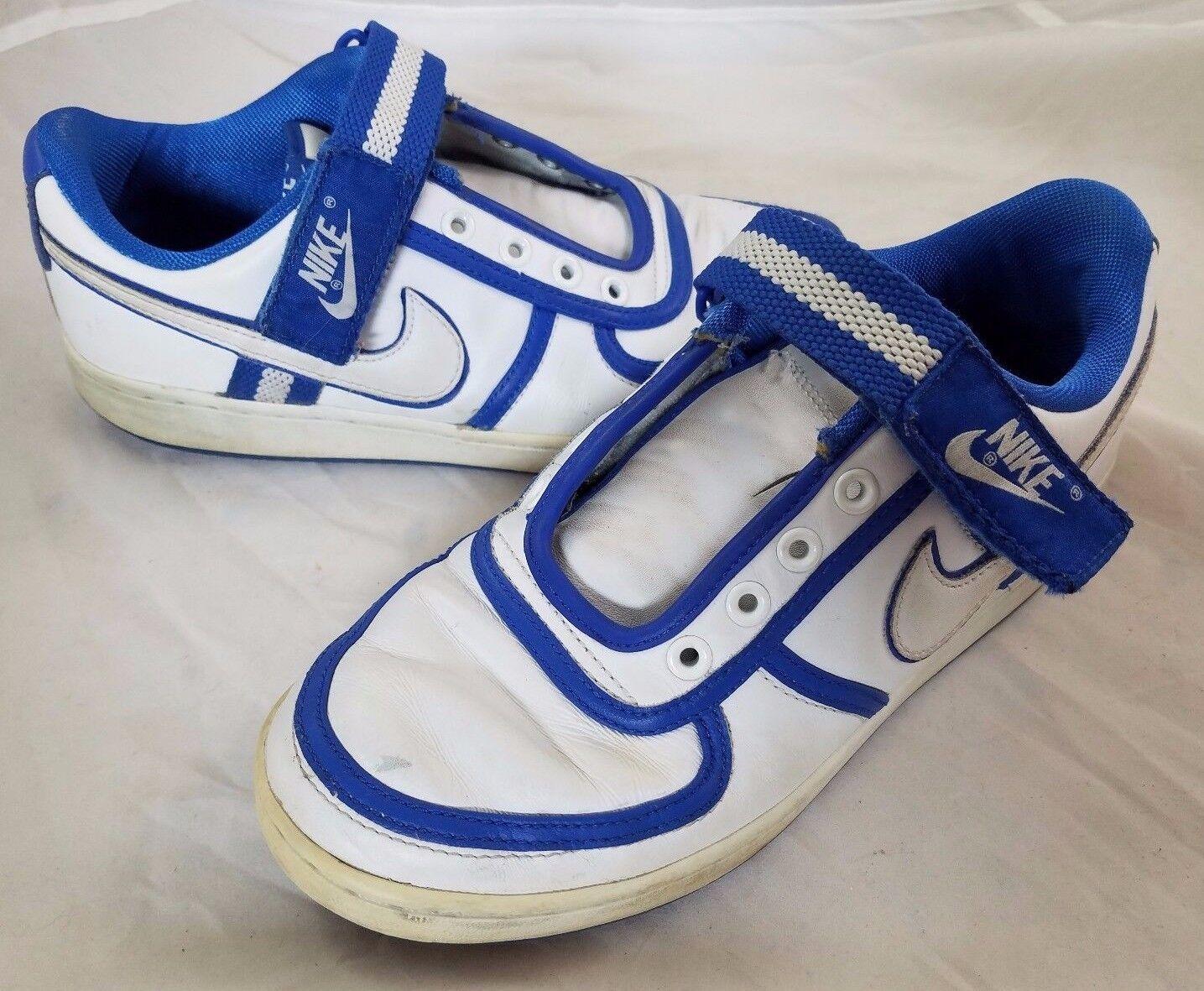 Nike Vandal Low Varsity Blue Basketball Sneakers Shoes Mens 7.5 316432-111 White