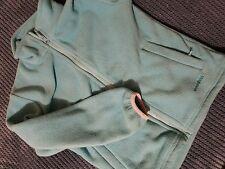 moutainlife green/ blue fleece zip warm sweater cardigan girl 7-8 years
