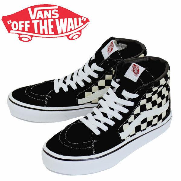Vans Sk8 Hi Lite Mens Uk 9 5 Ultracush Checkerboard Hi Tops Skate Shoes For Sale Online Ebay
