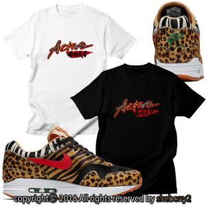Detalles acerca de Nueva camiseta personalizada que empareja Atmos X Nike Air Max 1 Animal Pack 2.0 AM1 1 1 2 mostrar título original