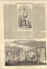 1858 cabina de estado reina de Portugal yate Edward Baines estatua Leeds