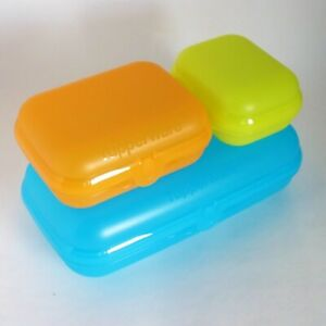 TUPPERWARE-Maxi-Twin-Set-3-Boxen-Tuerkis-Orange-Lime-Preissturz