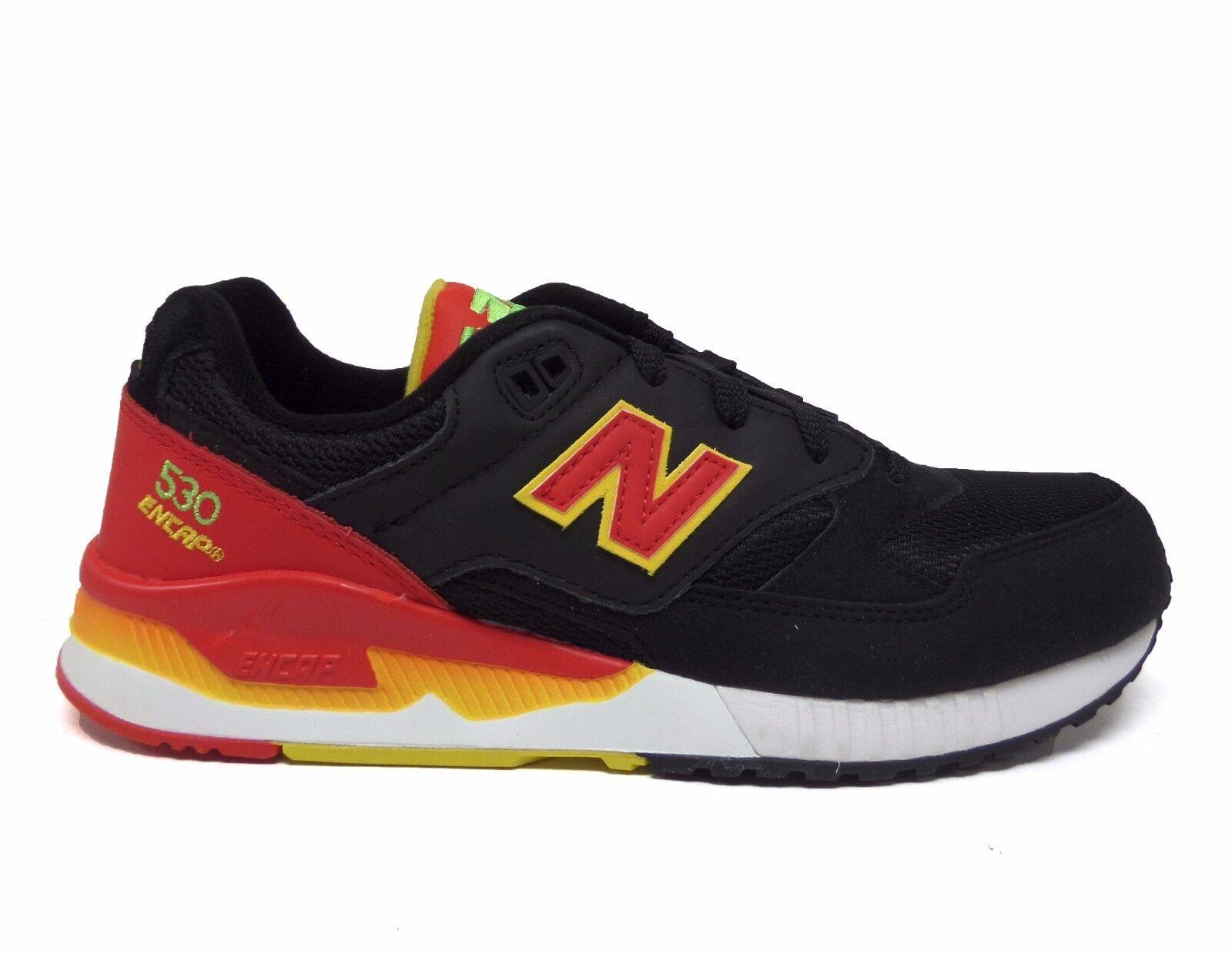Nuovo equilibrio uomini uomini uomini 530 elite edition flipper scarpe m530pin nero / rosso 65e82c