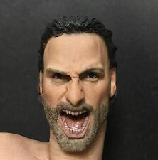 1/6 scale Head Sculpt Andrew Lincoln The Walking Dead Rick Grimes  IN Stock
