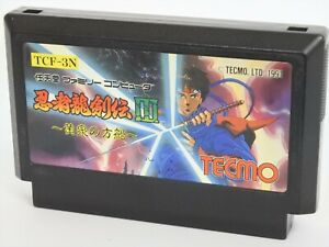 Famicom-NINJA-RYUKENDEN-III-3-Cartridge-Only-Ref-1778-Nintendo-Japan-Game-fc