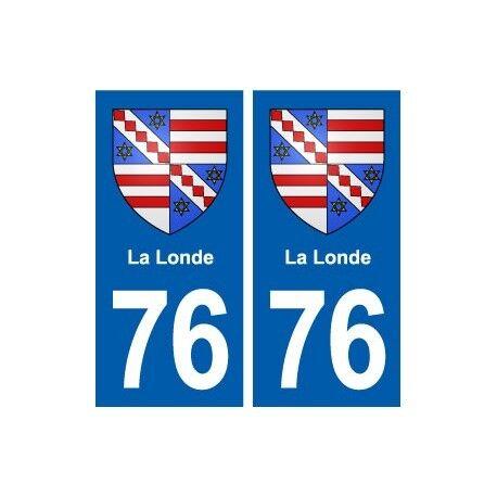 76 La Londe blason autocollant plaque stickers ville droits