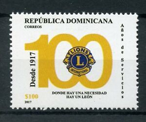 Dominican-Republic-2017-MNH-Lions-Club-International-100th-Anniv-1v-Set-Stamps