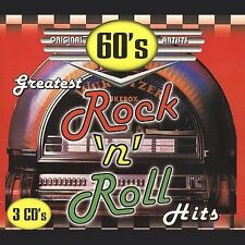60's Greatest Rock & Roll Hits [Box] by Various Artists (CD, Jun-1998, 3  Discs, Madacy)