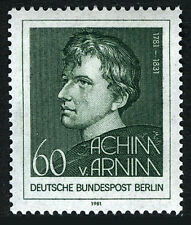 Germany-Berlin 9N461, MNH. Achim von Arnim, Poet, 1981