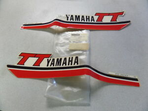 Details about NOS Yamaha Fuel Tank Gas Tank Decal Mark Graphic Set 1981  TT250 3Y0-24240-10