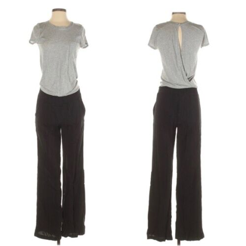 Vintage 1980/' Silver and Black and Two Tone Jumpsuit Size UK 14Small 16