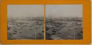 Algeria Il Port Algeri Ammiragliato Foto Stereo Vintage Analogica c1900