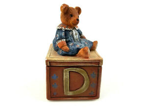 Vintage-1997-Lang-and-Wise-Teddy-Bear-Trinket-Box-By-Nita-Showers