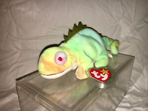 54c5645b24d RARE Iggy Ty Beanie Baby w  ERRORS 1997 COLLECTIBLE EXCELLENT ...