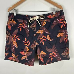 Country Road Mens Shorts Large Multicoloured Floral Elastic Waist Drawstring