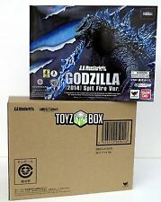 "In STOCK S.H. Monster Arts ""Godzilla"" 2014 Spitfire Edition Bandai Action Figure"