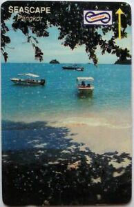 Malaysia-Used-Phone-Cards-Seascape-Pangkor