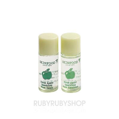 [SKINFOOD] FRESH APPLE Sparkling Pore Toner & Emulsion Samples - 2set (4ea)