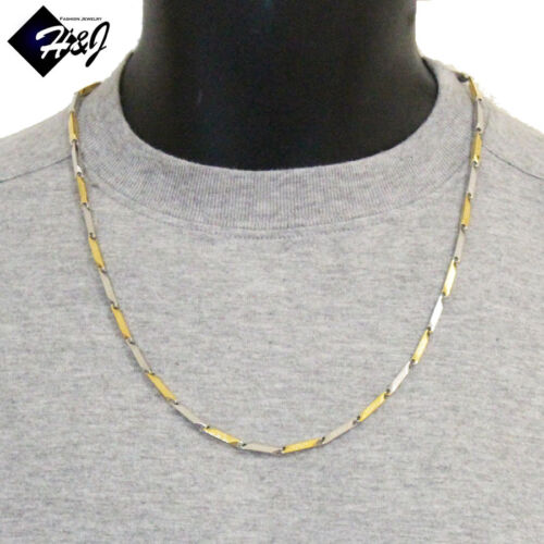 "24/""MEN/'s Stainless Steel 3mm Gold Silver Greek Key Arrow Bullet Chain Necklace"