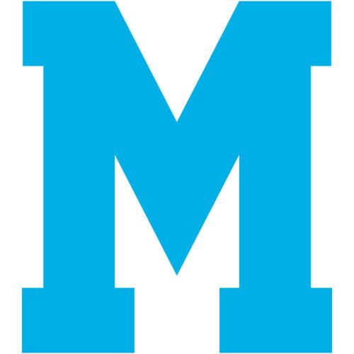 Varsity Letter M Decal Sticker Vinyl Window Laptop College Athletic Team Sports