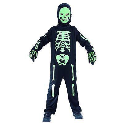 Skelett Kostüm Kinder Jungen schwarz grün - Halloween Kostüm  087574