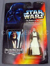 Star Wars PotF Ben (Obi Wan) Kenobi Red Canada Card back w/ Mexican Sticker RARE