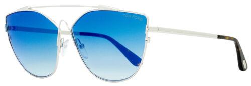 Tom Ford Butterfly Sunglasses TF563 Jacquelyn-02 18X Rhodium//Havana 64mm FT0563