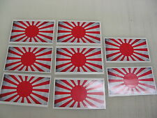 8 JAPAN FLAG Sticker Decal LOT 4 car Window Truck suv Wholesale Vintage Japanese