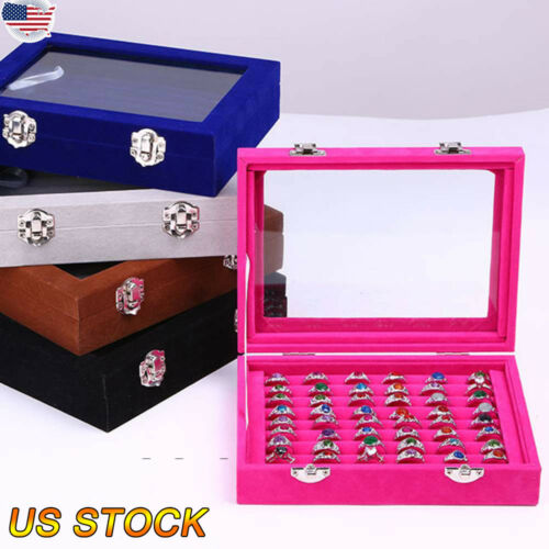 Women Jewelry Book Storage Bag Stud Earrings Necklace Display Box Organizer Case