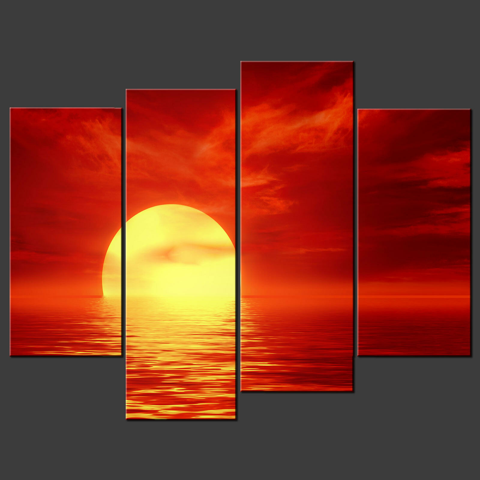 rot ABSTRACT ABSTRACT ABSTRACT SUNSET SPLIT CANVAS WALL ART PICTURES PRINTS LARGER GrößeS AVAILABLE cfd461