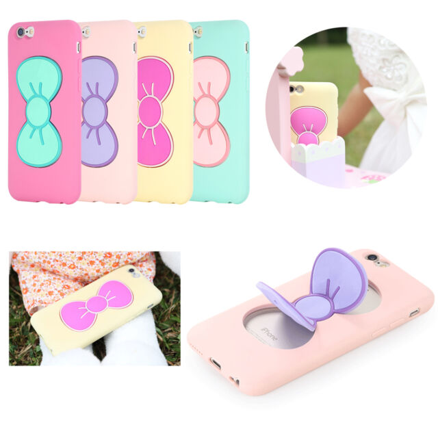 3D Soft Butterfly Bow Stand Holder Case Cover Fr Samsung Galaxy Grand Prime G530