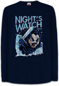Night-039-s-Bros-Kinder-Langarm-T-Shirt-Game-Watch-Jon-of-Snow-Fun-Sword-Ice-Thrones
