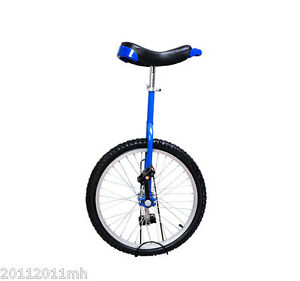 20-034-Wheel-Unicycle-Cycling-Exercise-1-75-034-Tire-Adjustable-Height-Chrome-Blue