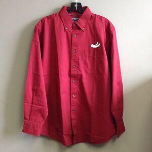 Crimson Alabama Button Down Shirt with Elephant Tusks