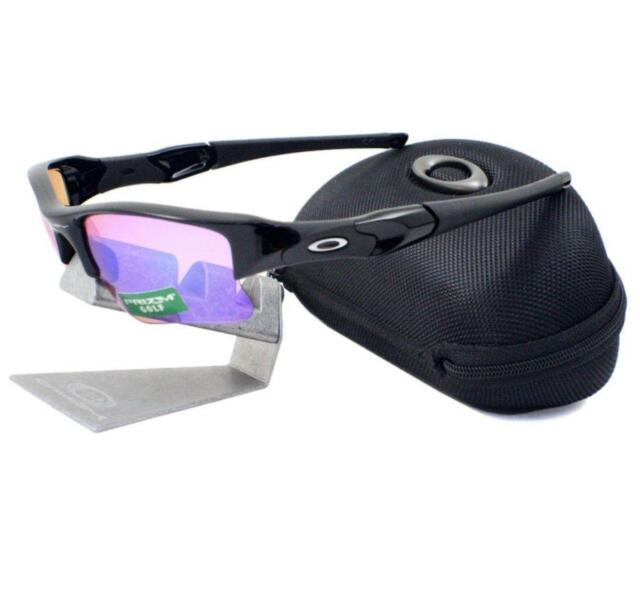 faa3279f10 Oakley 24-428 FLAK JACKET XLJ Polished Black Prizm Golf Mens Sports  Sunglasses .
