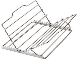 Kitchen-Craft-Adjustable-Chrome-Oven-Roasting-Roast-Meat-Rack-Trivet-29-x-28cm